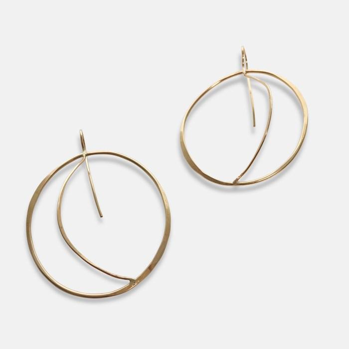 Gold Doric Earrings