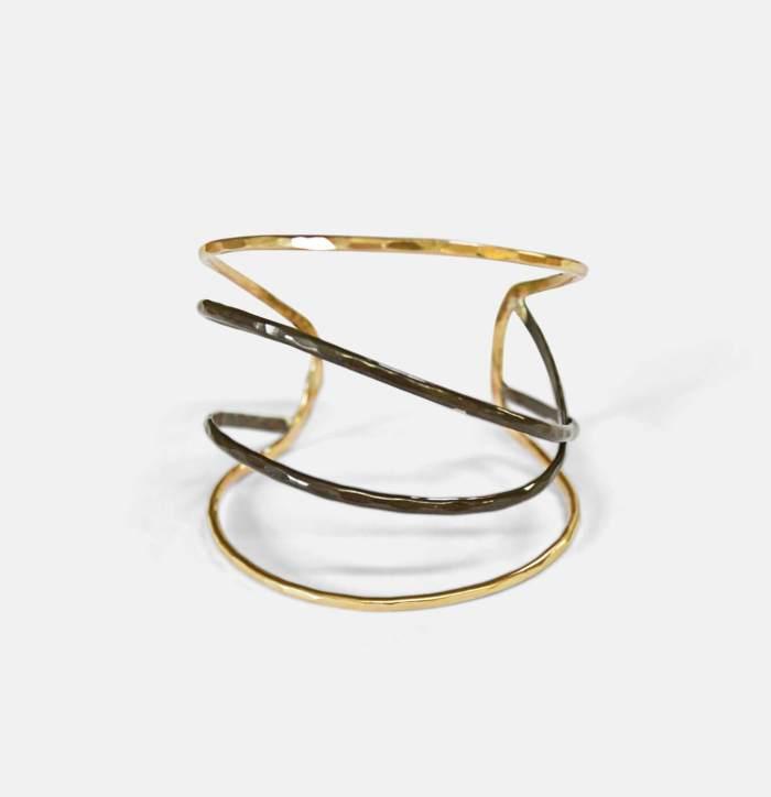 Capsule Cuff - Gold Jewelry
