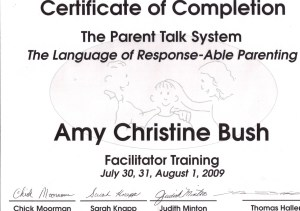 Amy Phoenix Parent Talk Certification