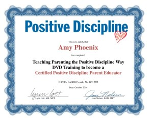 Amy Phoenix Positive Discipline Certification