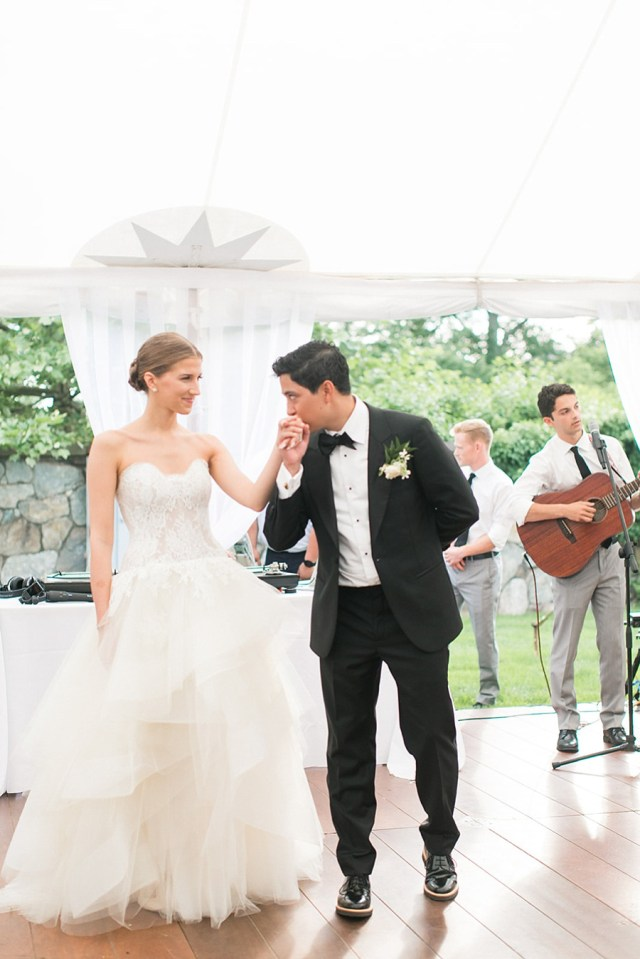 private estate wedding in greenwich ct : pamela + brandon