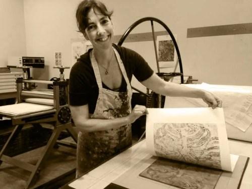 Amy Royce Making Prints
