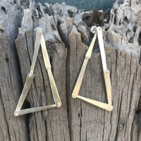Sterling Kinetic Triangle Earrings