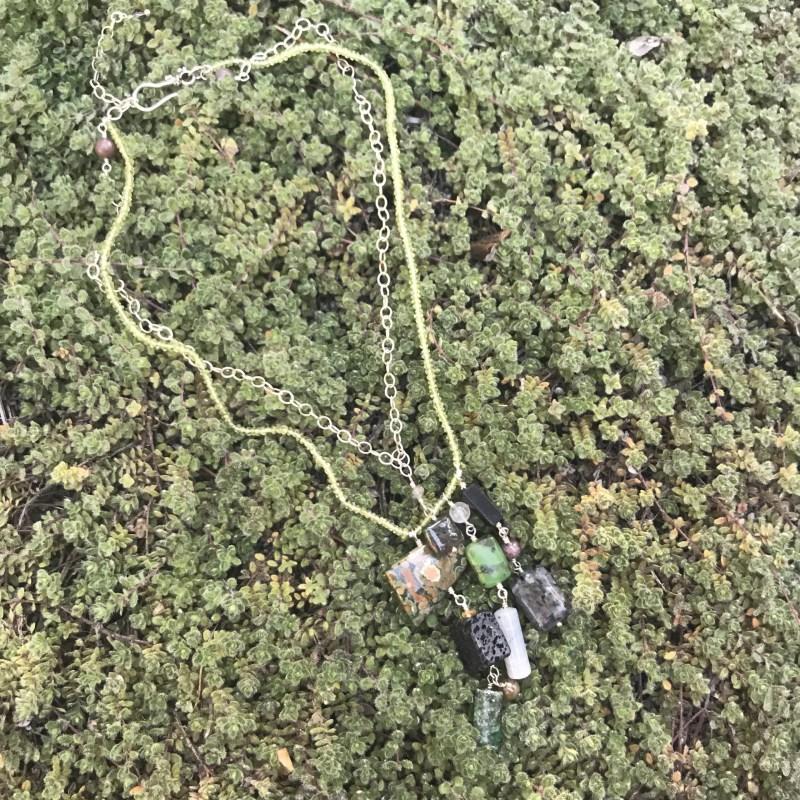 Peridot and Mixed Stone Necklace