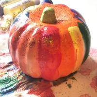 Follow along with my Fall crafts for kids series, painting rainbow pumpkins. Such a fun Halloween project for the kids!