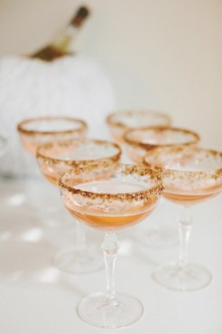 Glittery Champagne Saucers