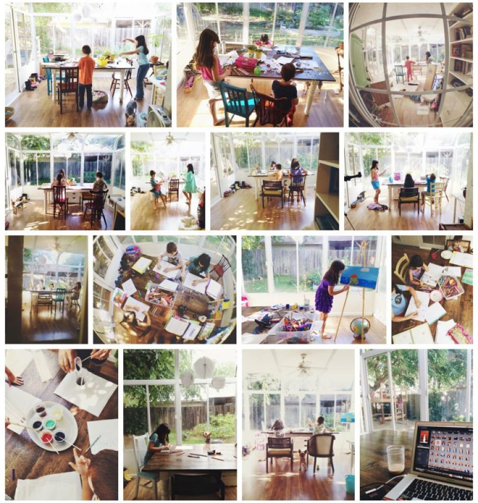Amy Schuff - Sunroom Homeschool Room