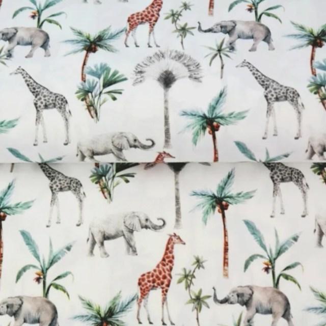 Katoen - Stenzo Olifant & giraf