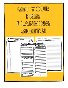 intention planning sheets