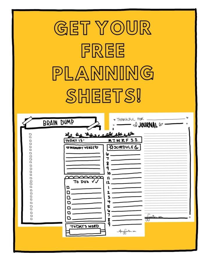 free day planner bonus