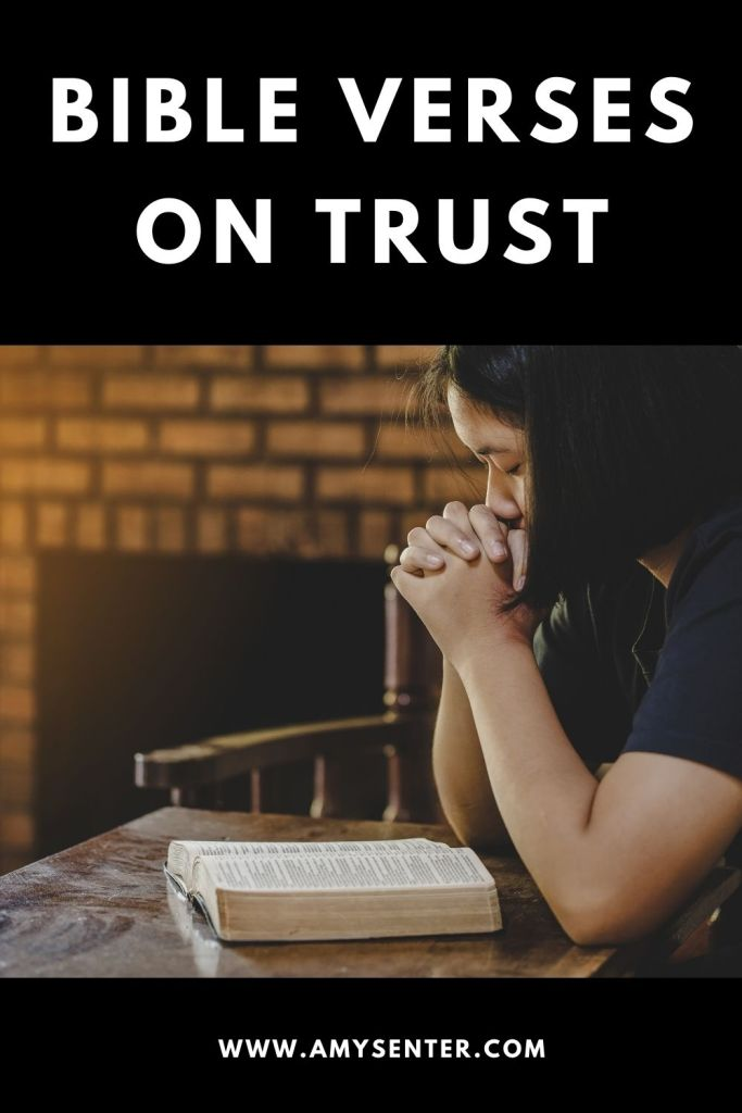Trusting bible verses