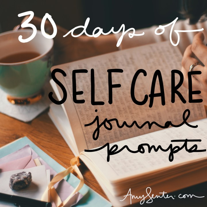 Self care journal prompt
