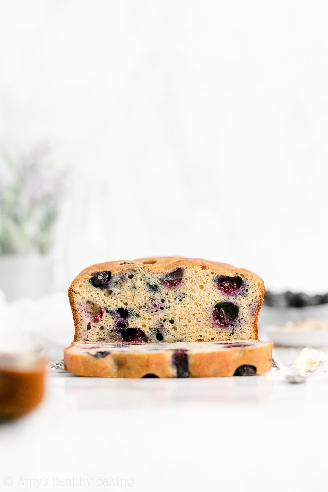Best Easy Healthy Sugar Free Low Calorie Blueberry Almond Banana Bread