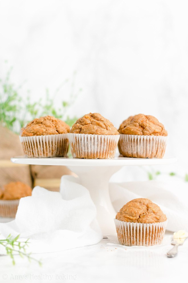 Best Easy Healthy Whole Wheat Low Sugar Moist Carrot Cake Oatmeal Muffins