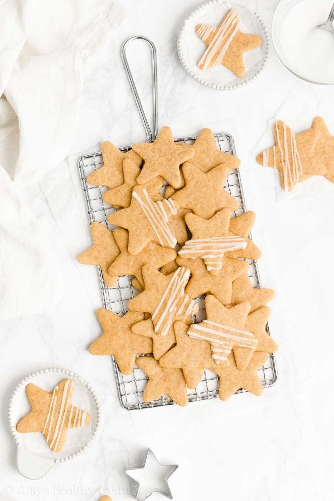 Best Easy Healthy Clean Eating Low Fat Soft Chewy Vanilla Bean Sugar Cookies
