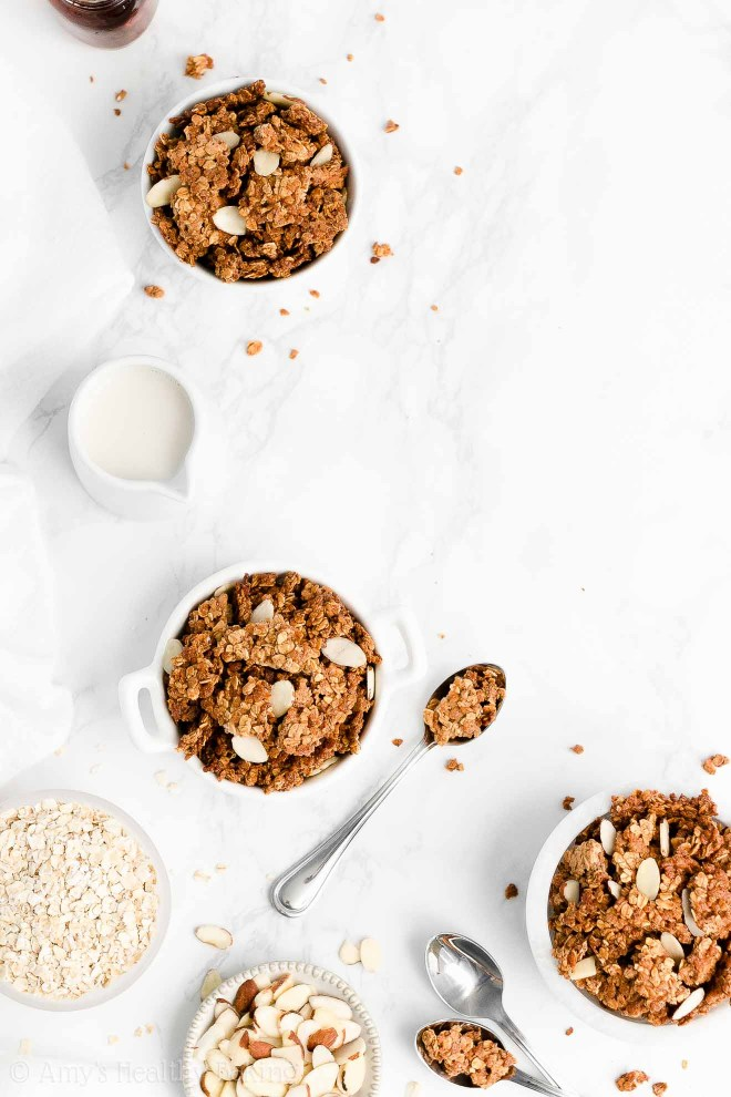 Easy Healthy Clean Eating Gluten Free Homemade Almond Butter Granola