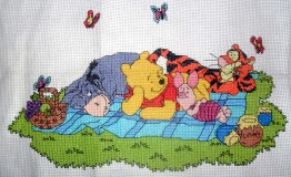 Winnie the Pooh and Friends at Picnic