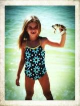 Raffey finds a crab