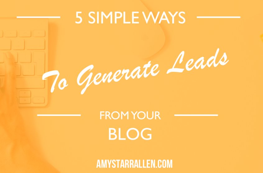 generate leads from your blog