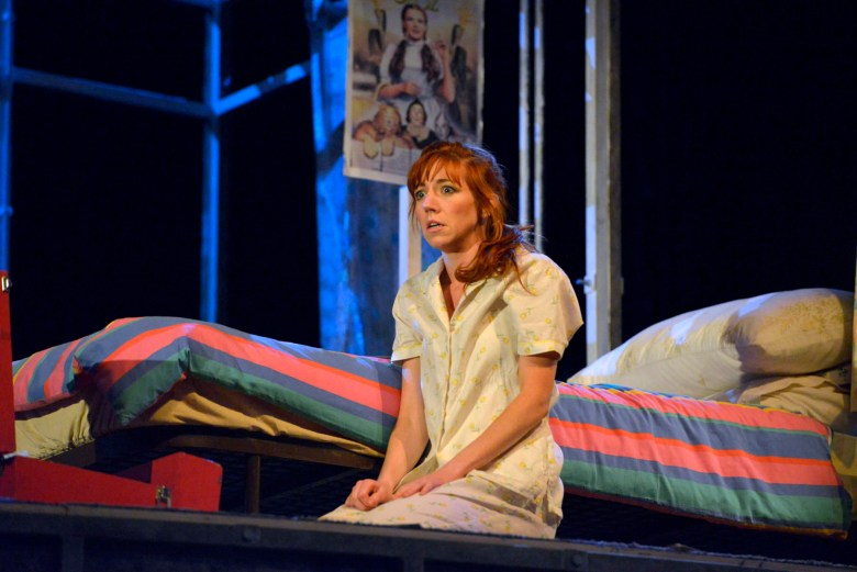Nancy Sullivan as LV in The Rise And Fall Of Little Voice.