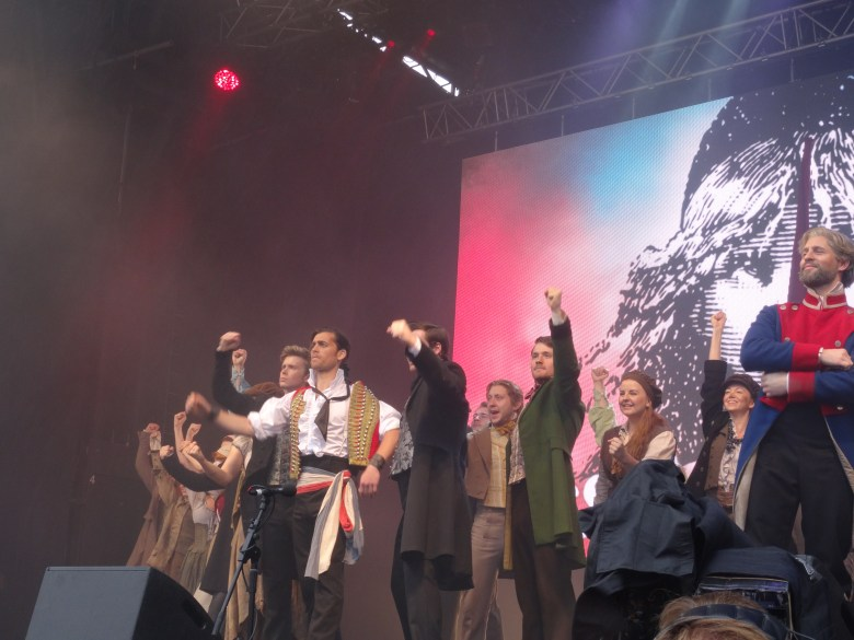 The Cast Of Les Mis at West End Live