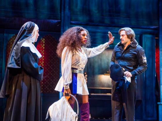 A scene from Sister Act @ Leicester Curve. Directed and Choreographed by Craig Revel Horwood. (Opening 30-07-16) ©Tristram Kenton 07/16 (3 Raveley Street, LONDON NW5 2HX TEL 0207 267 5550 Mob 07973 617 355)email: tristram@tristramkenton.com