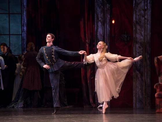 Lachlan Monaghan as Claras Dancing Partner and Karla Doorbar as Clara in The Nutcracker