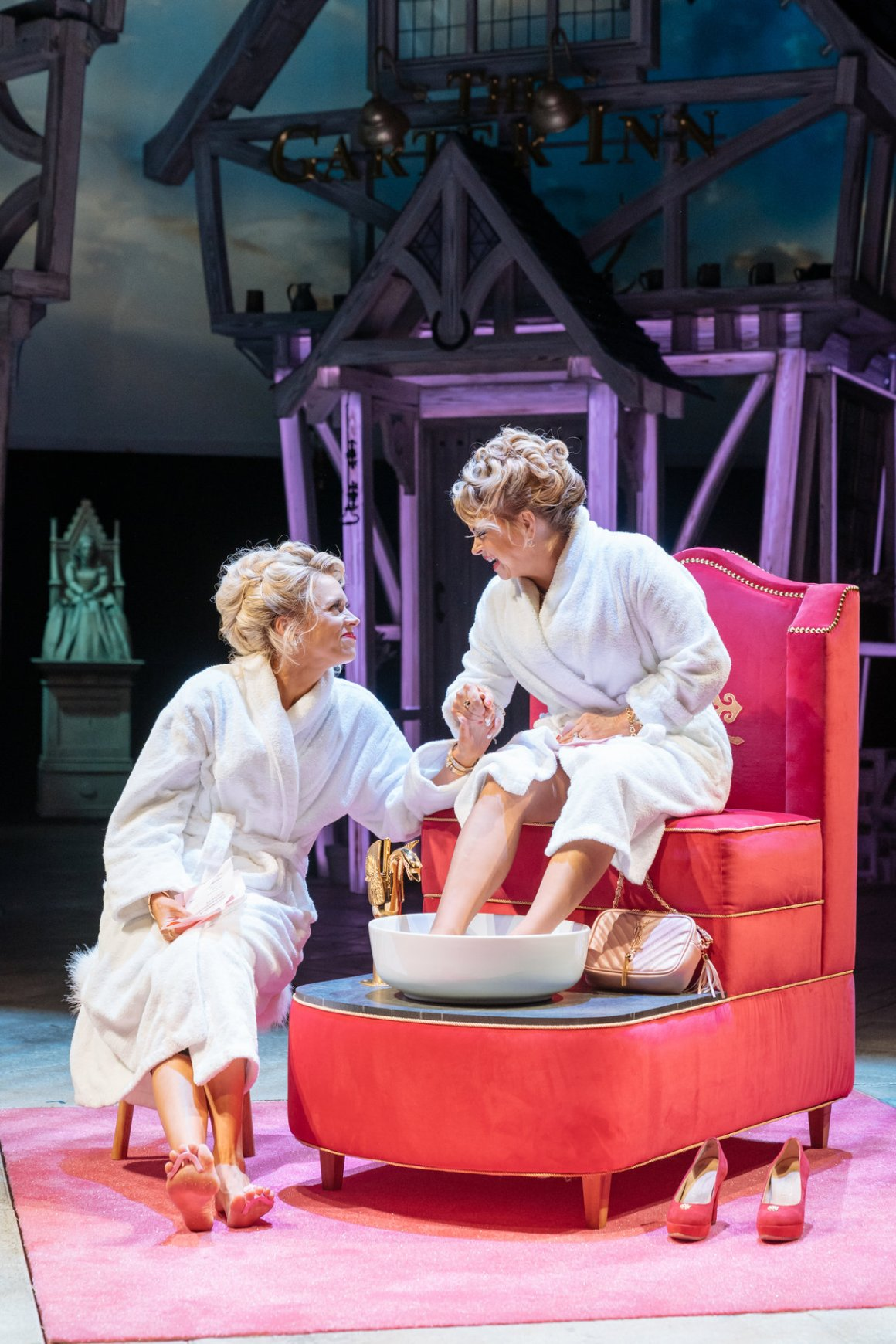 Beth Cordingly as Mistress Ford and Rebecca Lacey as Mistress Page in The Merry Wives of Windsor - Credit- Manuel Harlan RSC