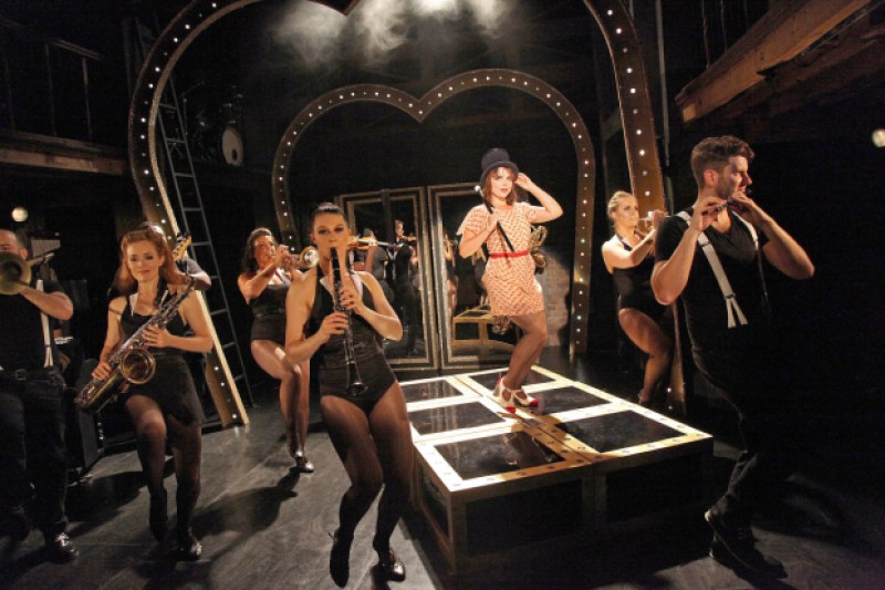 Gemma Sutton and the cast of Sweet Charity at the Watermill Theatre
