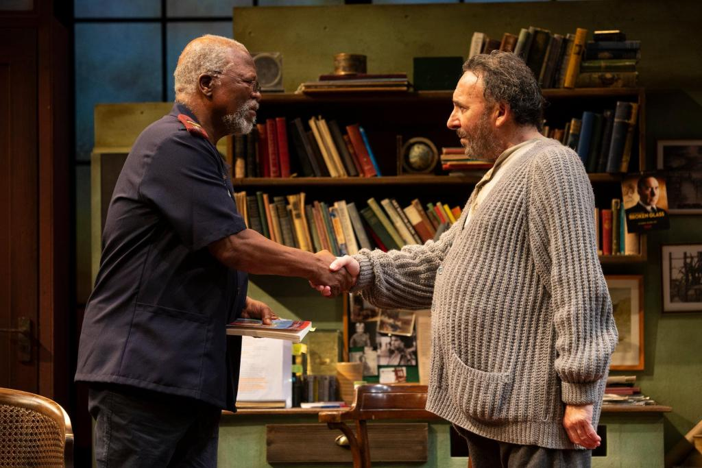 Kunene and the King at the RSC starring John Kani and Antony Sher. Photo credit: Ellie Kurttz