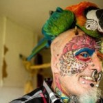 Man Cuts Off His Ears And Changes His Name To Complete His Parrot Transformation