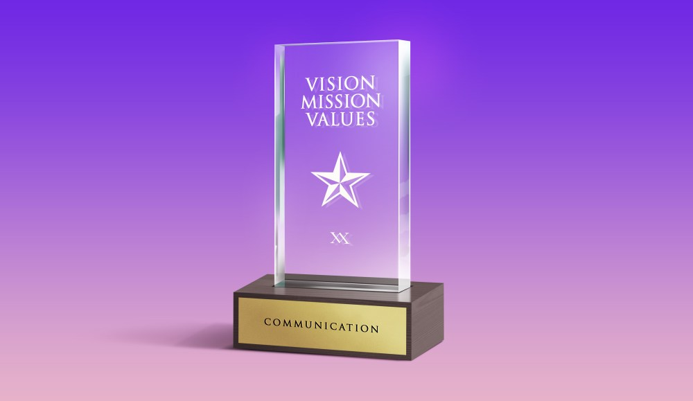 We help you develop your brand vision, mission & values!