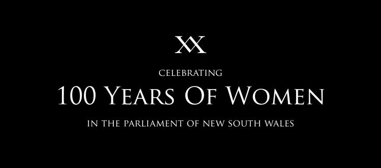 XX 100 years of women in NSW parliamentArtboard 1