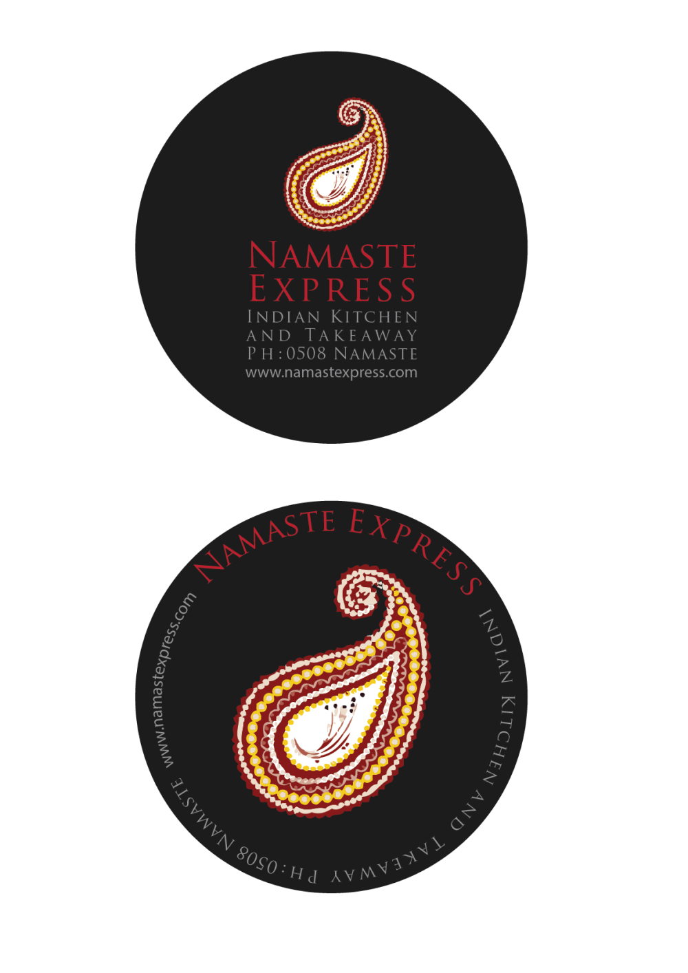 Namaste Express restaurant branding and hospitality design.