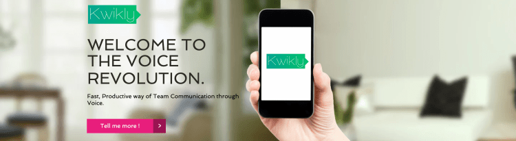 Kwikly Voice App - Logo and website Design for smartphone app-AmythandAmit-branding experts