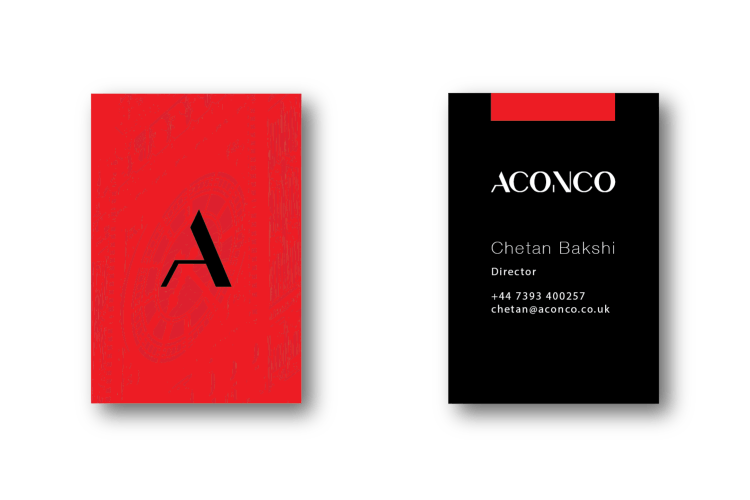 ACONCO Branding - business card design - amyth and amit 6