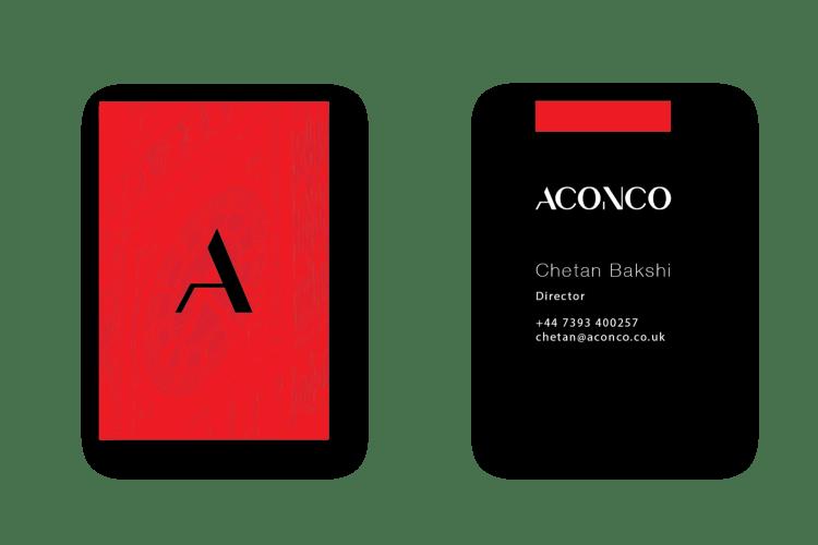 ACONCO Branding - business card design - amyth and amit 6