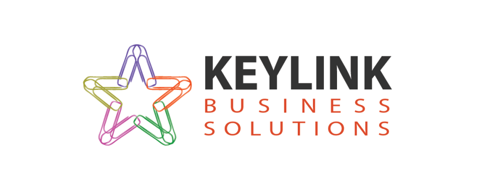 Logo design by Amyth and Amit for an accounting and taxation firm called Keylink Business Solutions.