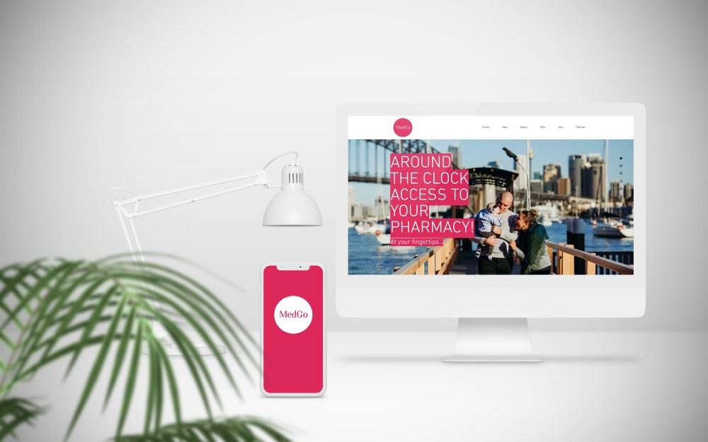 MedGo website and mobile app design.