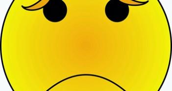 123 Emoticono triste 3x3 cm