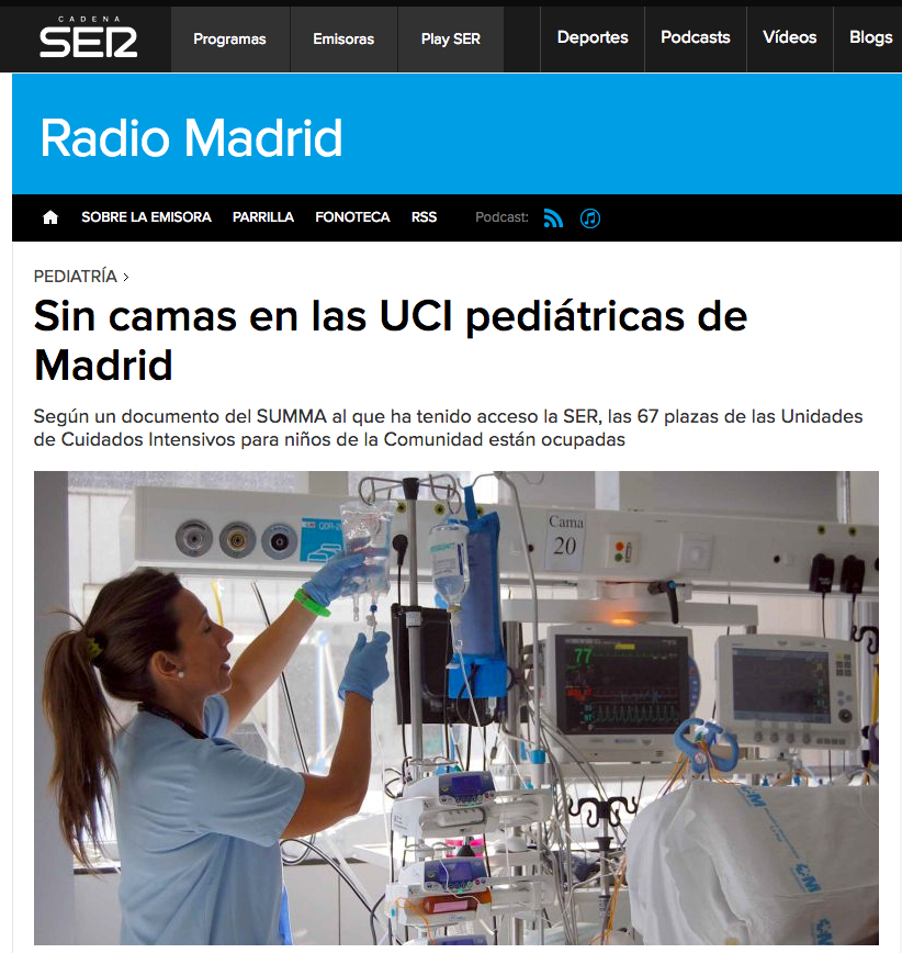 195 Cadena SER UCIs pediatricas