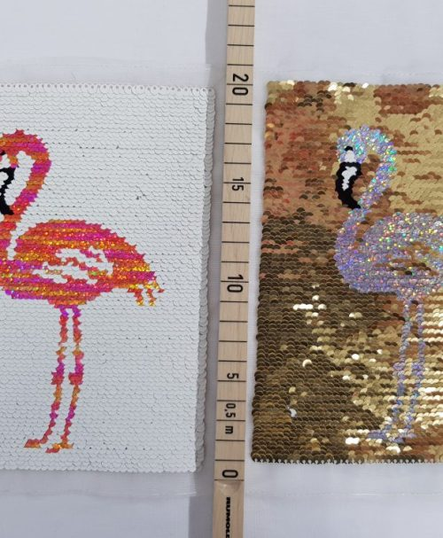 Wendepailletten-Applikation Flamingo