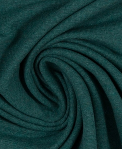 Reststück 0,5m 4,50€ Bündchen Heike melange dunkelgrün