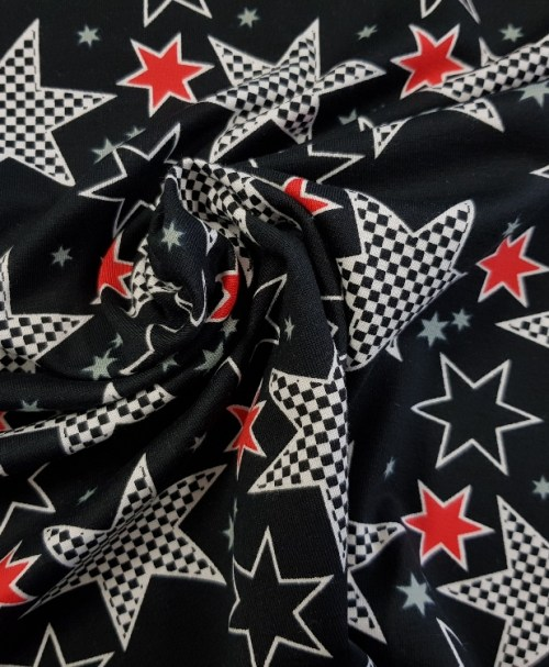 Jersey Sterne schwarz/rot