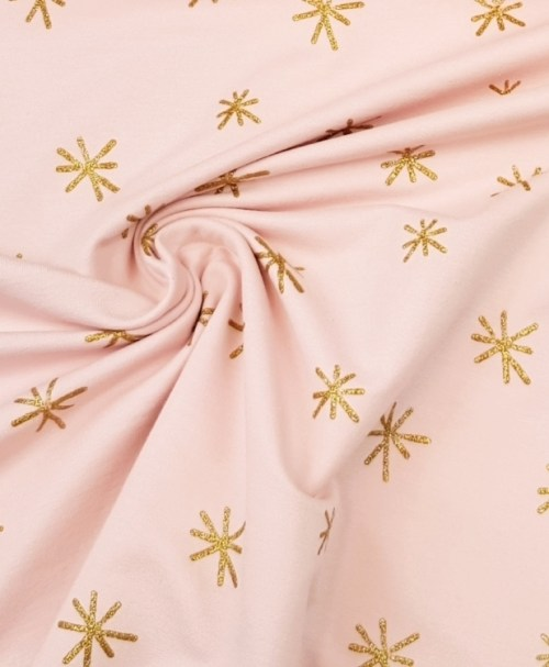 Sommersweat Sparkle rosa gold glitter