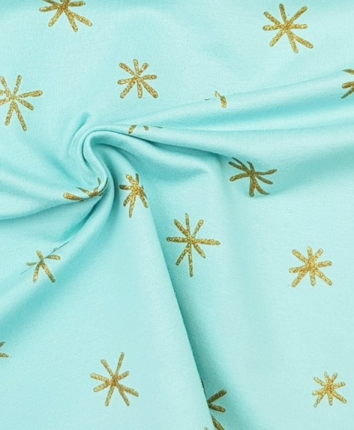 Sommersweat Sparkle mint gold glitter