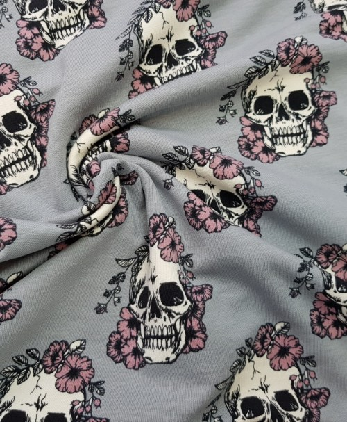 Sweat Skulls grau/rosa