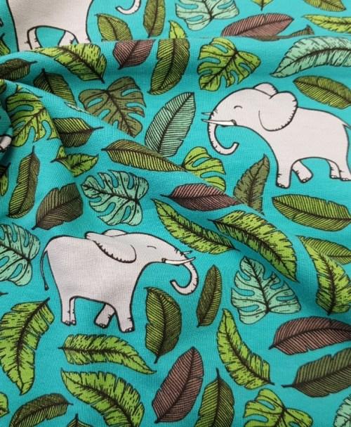 Sommersweat Elefant petrol