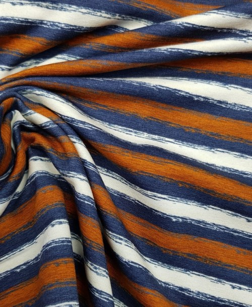 Sommersweat Chalky stripes cognac/denim