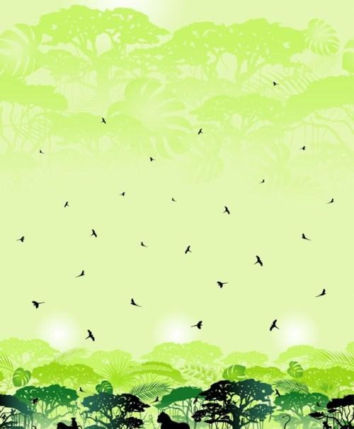 VORBESTELLUNG Jersey Wild Shadows by lycklig design Affen grün